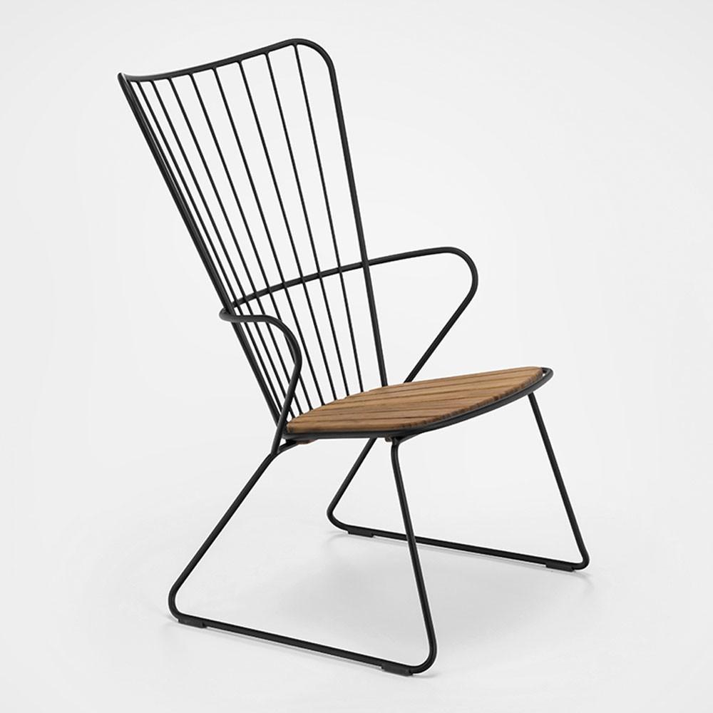 Peacock fauteuil zwart Houe