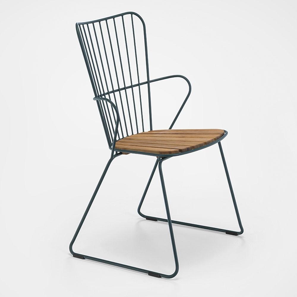 Chaise Paon vert pin Houe
