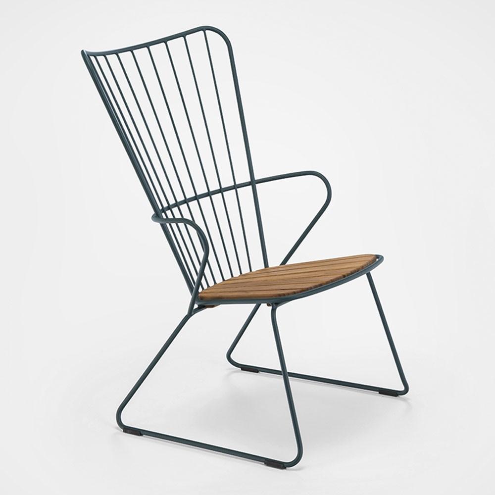Chaise lounge Paon vert pin Houe
