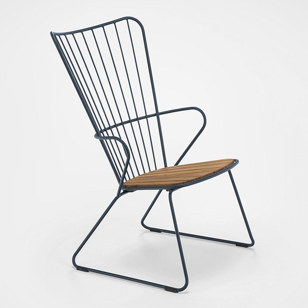 Chaise lounge Paon bleu nuit Houe