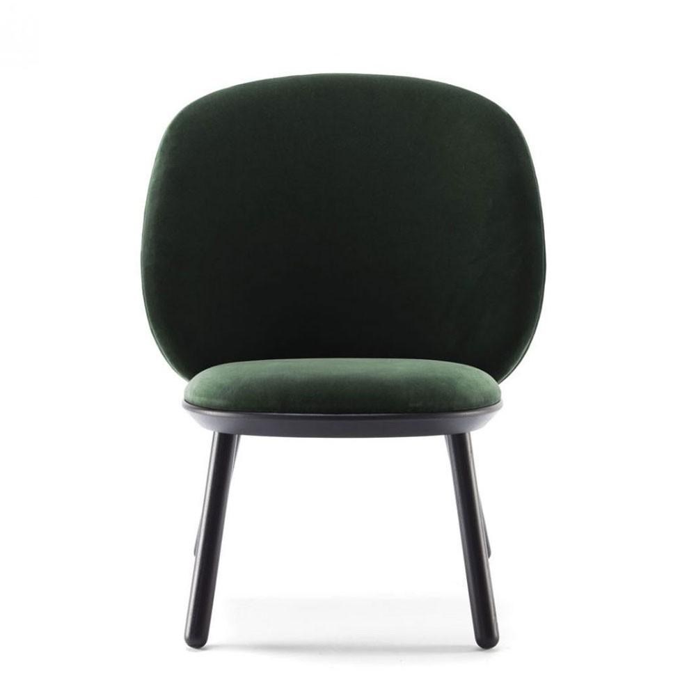 Naïve low chair bottle green velvet Emko
