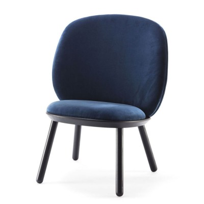 Naïve low chair royal blue velvet Emko