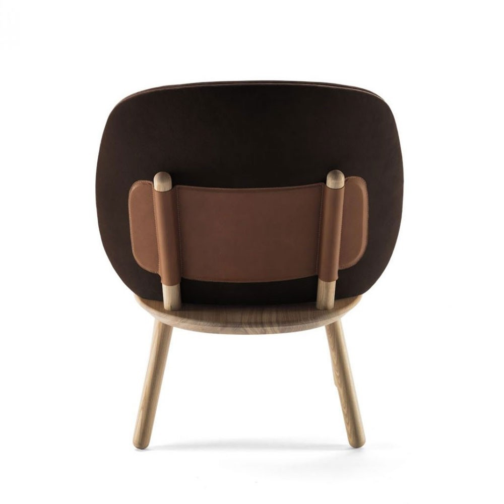 Naïve low chair brown velvet Emko