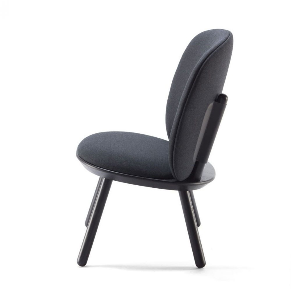 Naïve low chair black kvadrat Emko