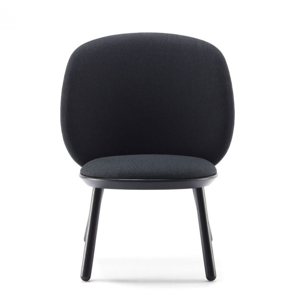 Chaise basse Naïve kvadrat noir Emko
