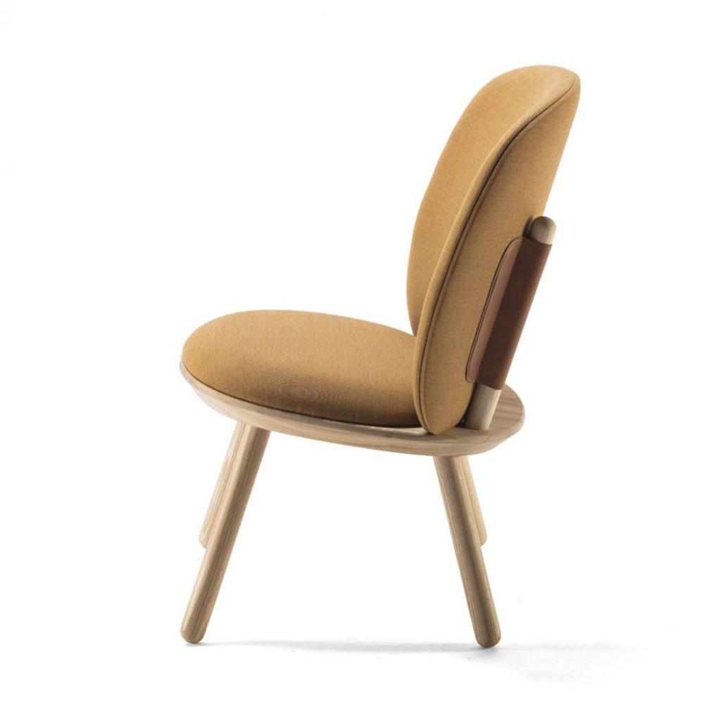Naïeve lage stoel kvadrat geel Emko