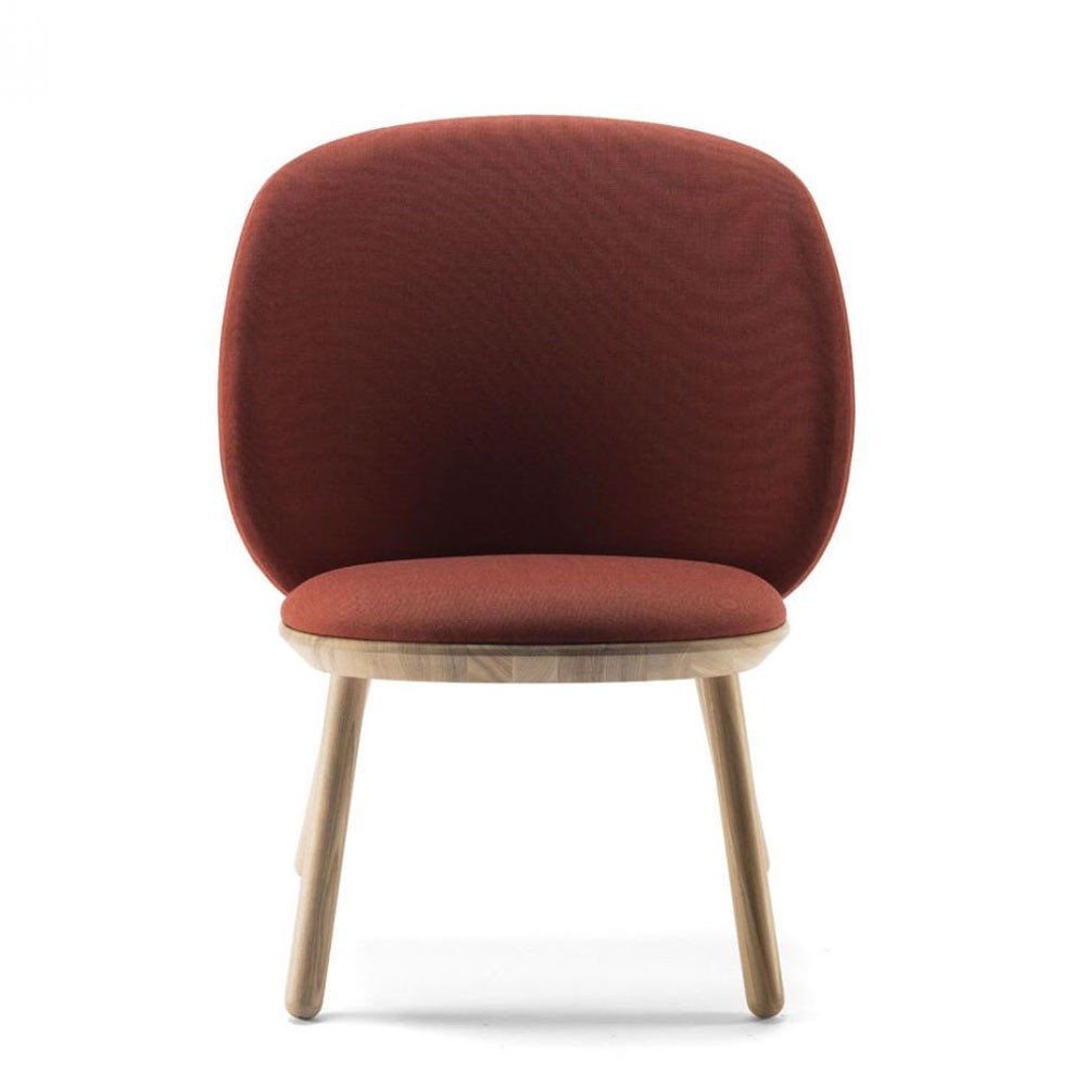 Naïeve lage stoel kvadrat cognac Emko