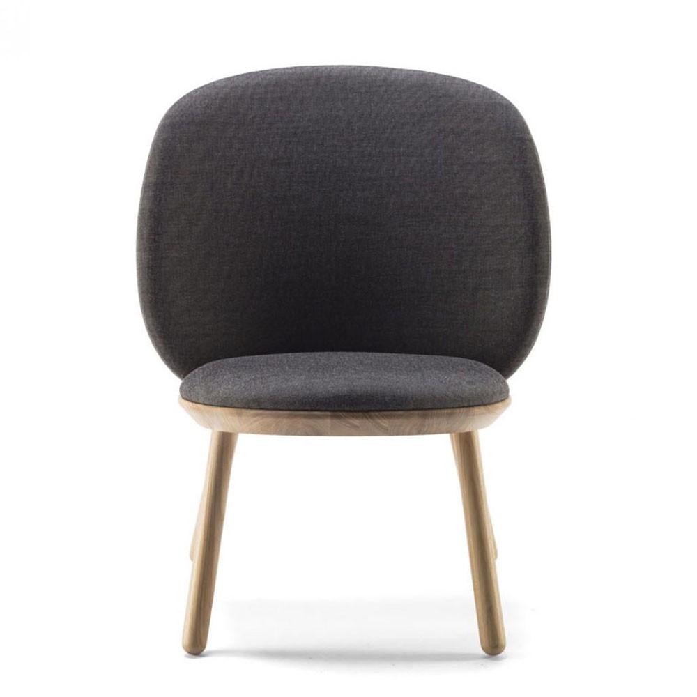 Chaise basse Naïve kvadrat gris Emko