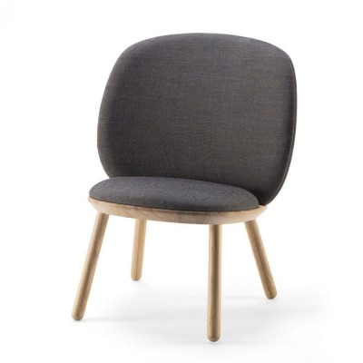 Naïve low chair grey kvadrat Emko