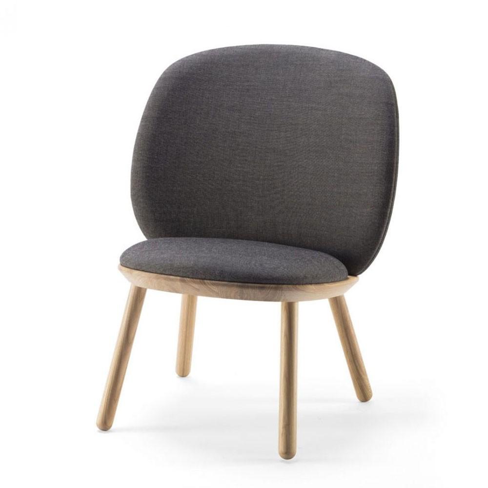 Naïve low chair grey kvadrat Emko