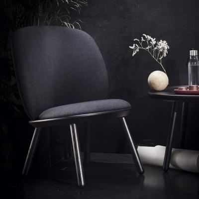 Naïeve lage stoel kvadrat zwart Emko