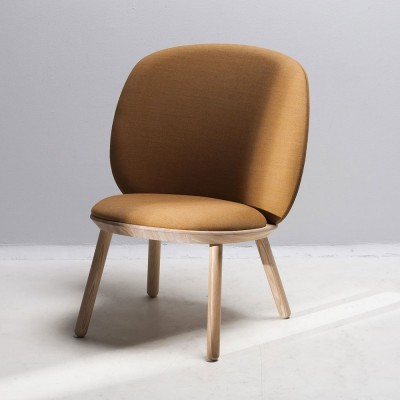 Naïve low chair yellow kvadrat Emko