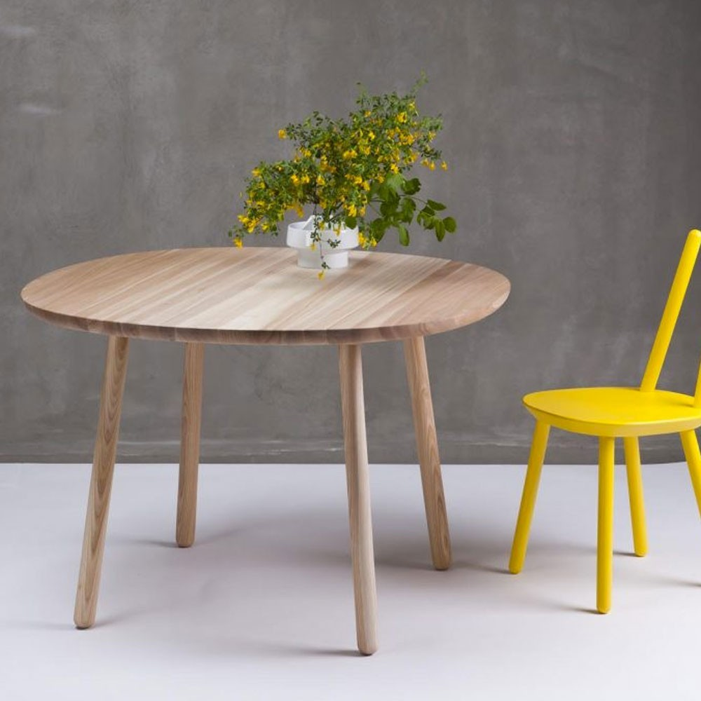 Naïve dining table natural ash Ø110cm Emko