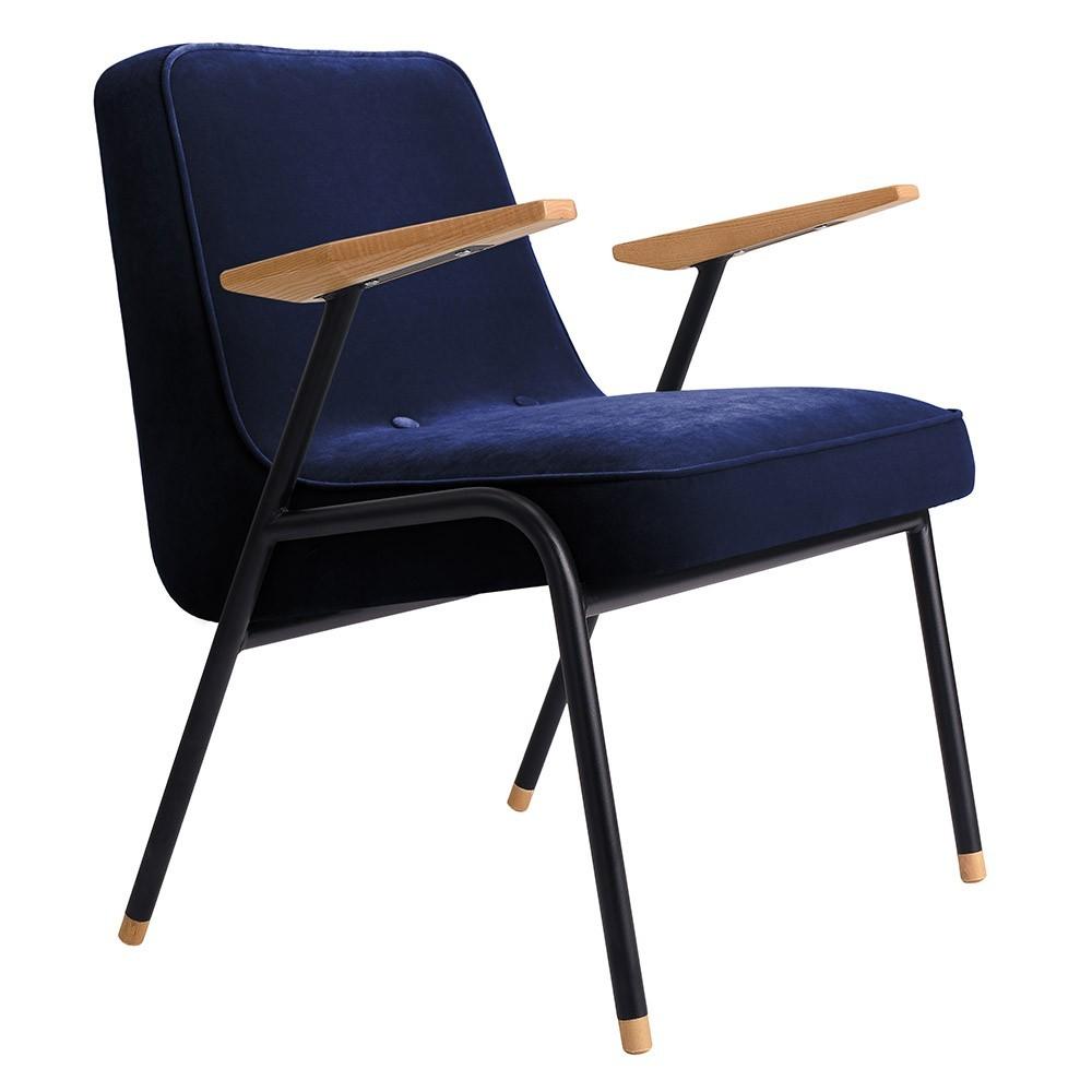 366 armchair Metal Velvet indigo 366 Concept