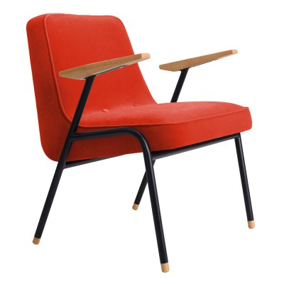 Fauteuil 366 Metal Velours chili pepper 366 Concept