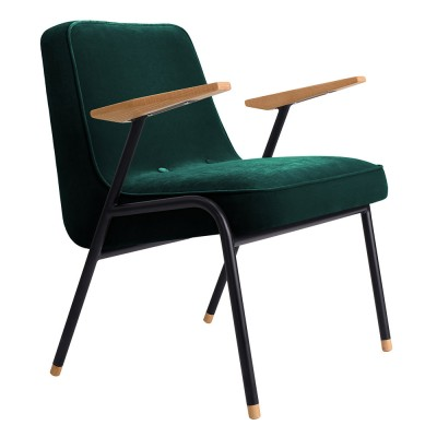 366 armchair Metal Velvet bottle green 366 Concept