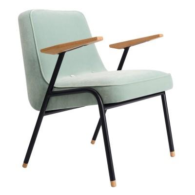 366 armchair Metal Velvet mint 366 Concept