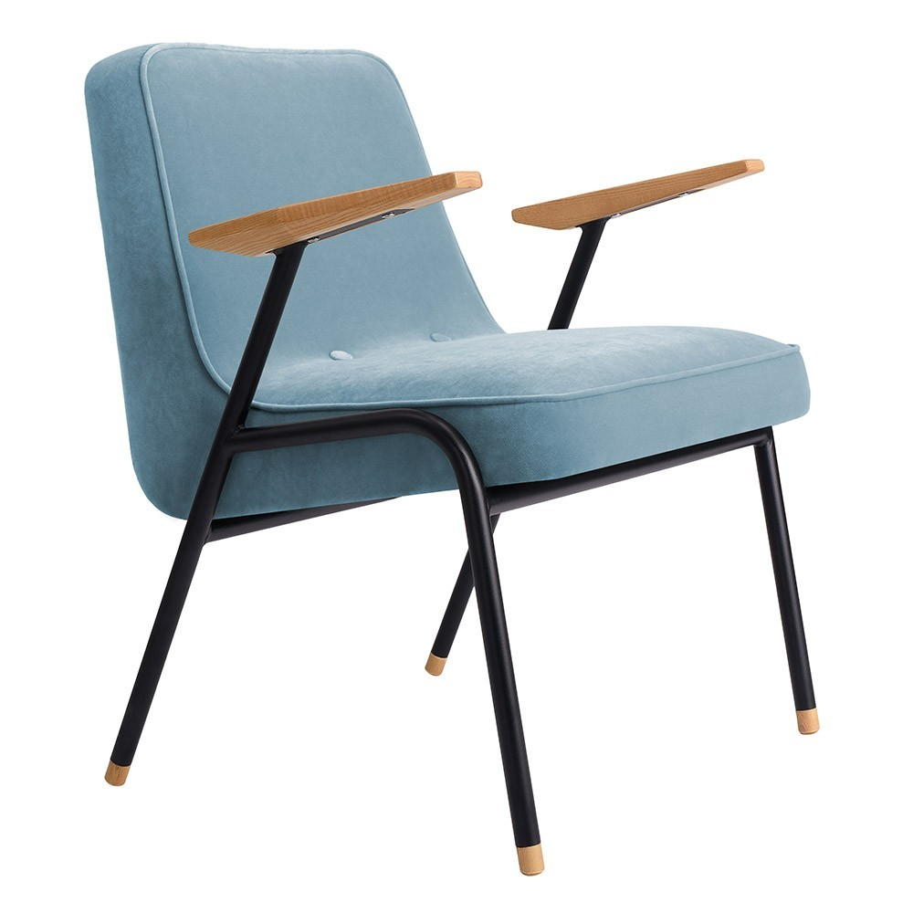 366 armchair Metal Velvet sky blue 366 Concept