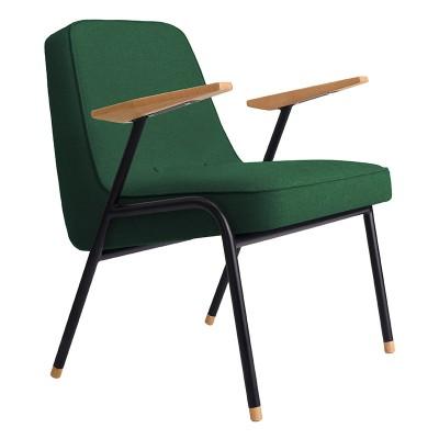 366 armchair Metal Wool bottle green 366 Concept