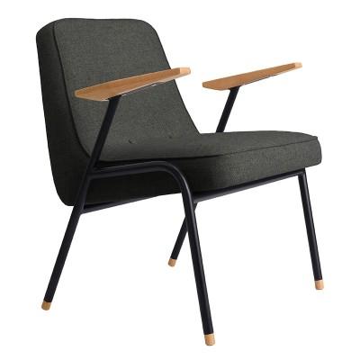 Fauteuil 366 Metal en laine gris & noir 366 Concept
