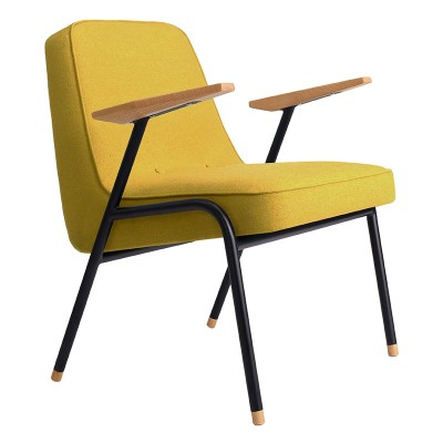 366 armchair Metal Wool mustard 366 Concept